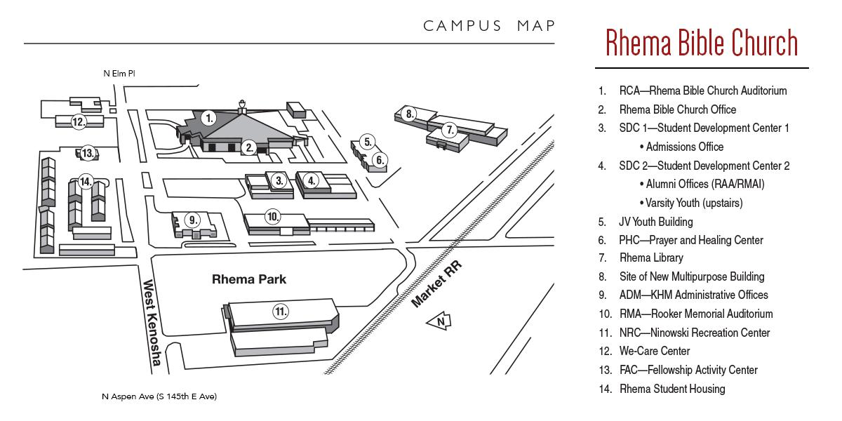 Rhema Bible Church Campus Map