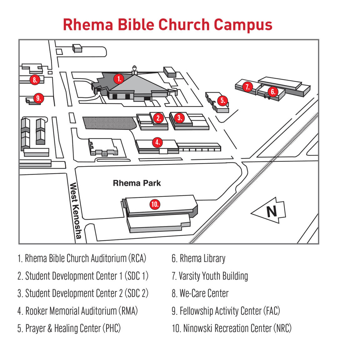 Rhema Bible Church Campus Map